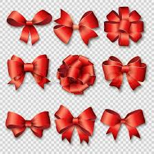 christmas ribbons ribbons set for christmas gifts gift bows with ribbons vector