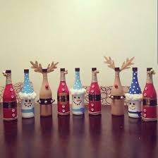 best 25 christmas wine bottles ideas on decorative