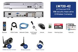 wireless security camera system with 2 outdoor 720p wireless