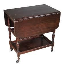 Antique Drop Leaf Table Vintage Drop Leaf Cart Table Ebth