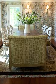shabby chic dining room dining room transitional with green fabric