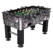 major league soccer table triumph 57 inch corner kick major league soccer foosball table
