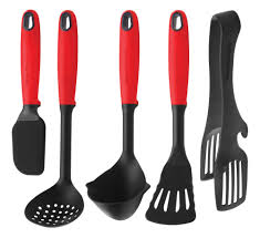 swiss diamond kitchen utensil set 5 piece cutlery and more