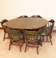 Retro Dining Room Furniture Dormalux Retro Dining Table And Six Chairs Ebth
