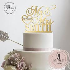 customized wedding cake toppers personalized wedding cake topper mr mrs heart