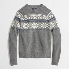 snowflake sweater j crew factory factory lambswool snowflake fair isle sweater