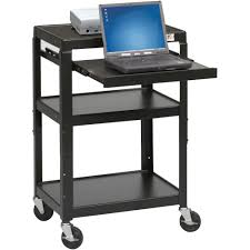 Laptop Desk Cart by Adjustable Laptop Utility Cart Mooreco Inc Best Rite Balt