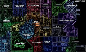 City Map Night City Map And Districts Cyberpunkgame