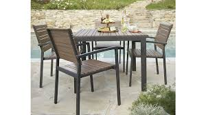 Patio Table Wood Crate Barrel Patio Furniture Modern Outdoor Lounge Morocco And 19