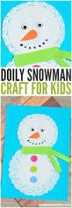 doily snowman craft easy peasy and fun