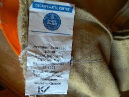 espresso coffee bag decaf espresso blend swp coffee home roast coffee