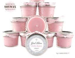 baptism candle favors 30 ct pink and silver baptism favors 4 oz personalized soy
