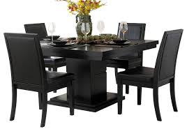 5 dining room sets cicero 5 square pedestal dining room set black