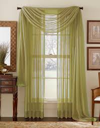 elegance sheer curtain voile scarf panels gold stylemaster