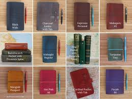 A5 leather traveler 39 s notebook with extra width for hardcover