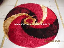 round circle polyester thick yarn mixed thin yarn shaggy carpet