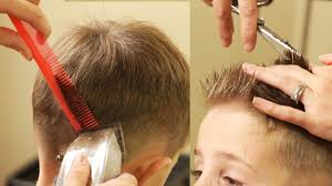 cutting boy hair with scissors how to cut boy s hair taper fade haircut with no attachments