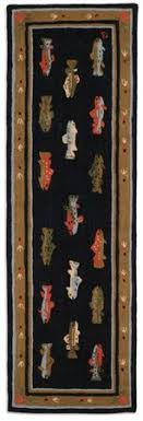 Fish Runner Rug Eat Sleep Fish Hooked Rug Lake Pinterest Accent Rugs