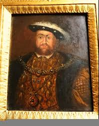 18thc oil portrait painting of king henry viii 1491 1547 after