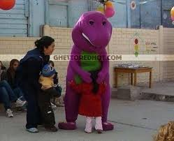Barney Meme - barney nooooo a little too friendly ghetto red hot