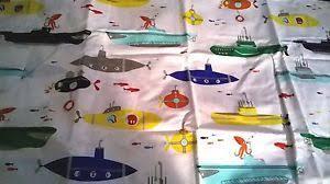 new pottery barn kid submarine crib sheet fish toddler bed