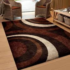Brown Area Rugs Carolina Weavers Riveting Shag Collection Circular Flare Brown