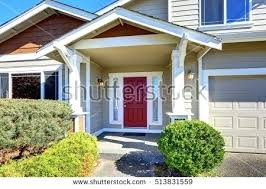 door house red front door 331 entrance porch with red front door house exterior