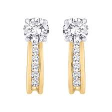 diamond earring jackets diamond earring jackets in 10k white yellow gold 1 4 cttw