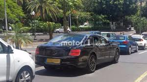 2019 bentley flying spur spied hiding production body