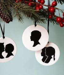 personalized portrait ornaments custom silhouette