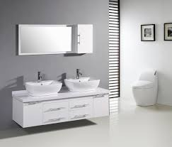 Modern White Bathroom Ideas Bathroom Ideas Large Bathroom Mirror With Storage Above Two