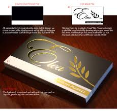 gold foil sted business cards foil printing