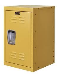 kids yellow mini locker 15