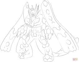 zygarde in 100 percent form coloring page free printable
