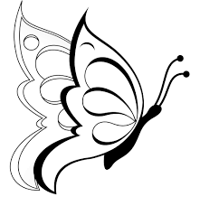 coloring page easy draw butterfly flying drawings in pencil 1000