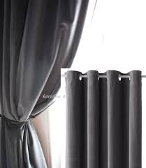 Ikea Curtains Blackout Decorating Ikea Sanela Charcoal Gray Curtains 2 Panels Blackout Cotton Velvet