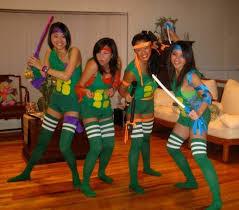 Group Halloween Costume Ideas For Teenage Girls Women Tmnt Halloween Costumes Bigdiyideas Com Tmnt Halloween