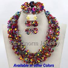 indian beaded necklace images 2017 multicolored indian wedding crystal jewelry set handmade jpg