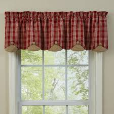 country style curtains barnside lined scalloped valance