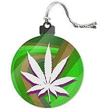 pewter marijuana pot leaf ornament and