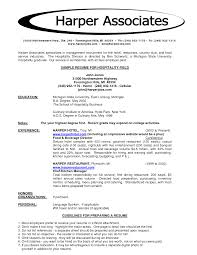 Job Resume For Hotel by Hotel Job Resume Sample Free Resume Example And Writing Download