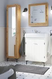 silverån high cabinet with mirror door light brown door opener