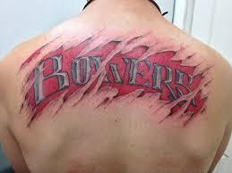 back name tattoo ideas