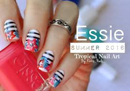 tropical summer nail art essie summer 2016 collection youtube