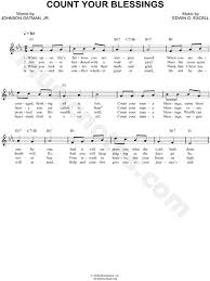 Count Your Blessings Lyrics And Chords Edwin Othello Excell Count Your Blessings Sheet Leadsheet