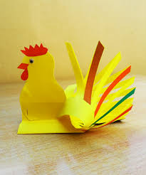 How To Make A Paper Beak - easy new year rooster crafts activitybox