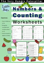 the very hungry caterpillar numbers and counting worksheets
