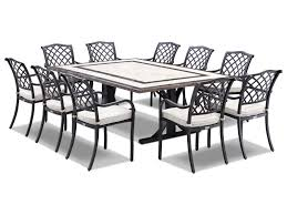 Cast Aluminium Garden Table And Chairs Natural Stone Outdoor Tables Outdoor Elegance