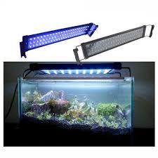 30 led aquarium light 2018 30cm extended to 48cm 6w 100 240v plug and play white blue led