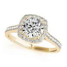 gold diamond engagement rings gold diamond engagement ring cushion cut shaped halo